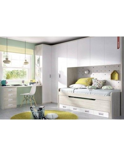 Dormitorio juvenil infantil moderno 363-128