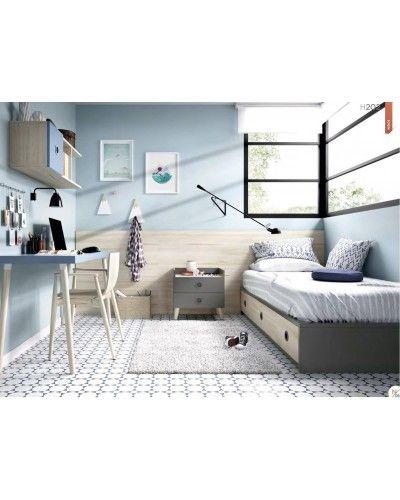 Dormitorio juvenil infantil moderno 363-202