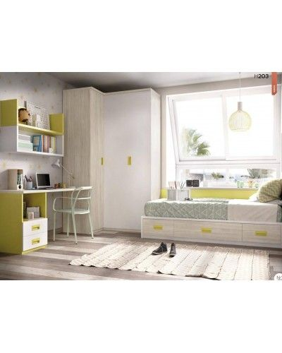 Dormitorio juvenil infantil moderno 363-203