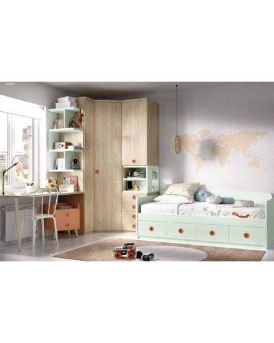Dormitorio juvenil infantil moderno 363-206