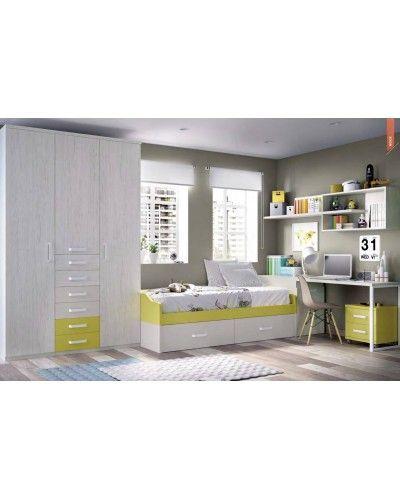 Dormitorio juvenil infantil moderno 363-207
