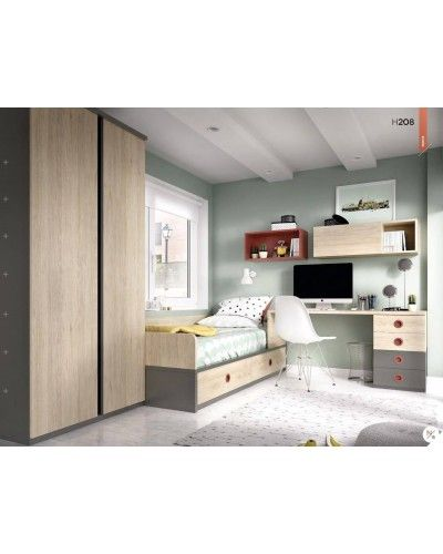 Dormitorio juvenil infantil moderno 363-208