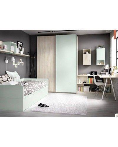 Dormitorio juvenil infantil moderno 363-210