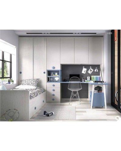 Dormitorio juvenil infantil moderno 363-211