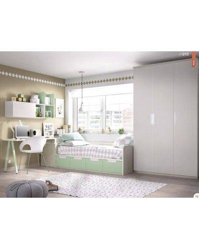 Dormitorio juvenil infantil moderno 363-213