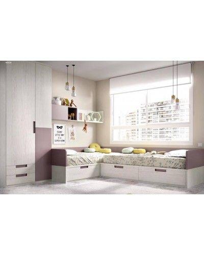 Dormitorio juvenil infantil moderno 363-214