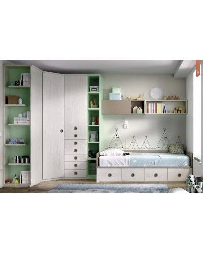 Dormitorio juvenil infantil moderno 363-215