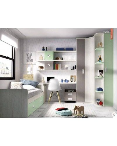 Dormitorio juvenil infantil moderno 363-218