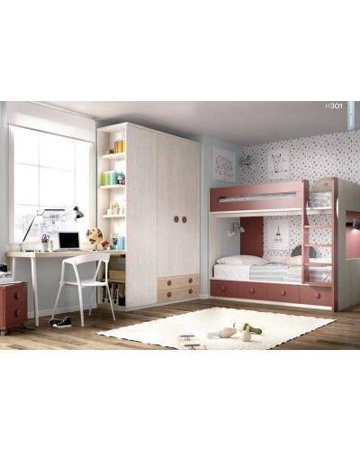 Litera dormitorio juvenil  infantil moderno 363-301