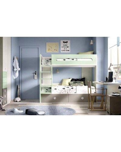 Litera dormitorio juvenil infantil moderno 363-304