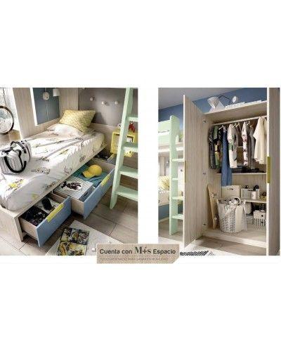 Litera dormitorio juvenil infantil moderno 363-305