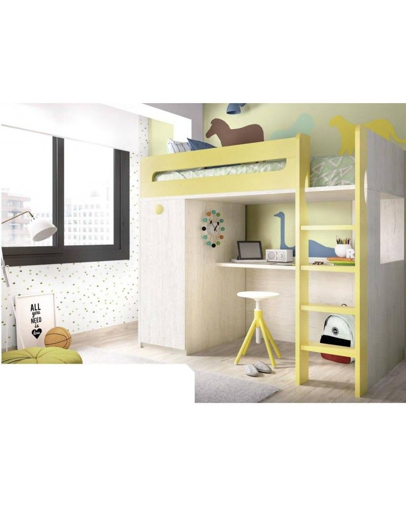 Litera dormitorio juvenil infantil moderno 363-306