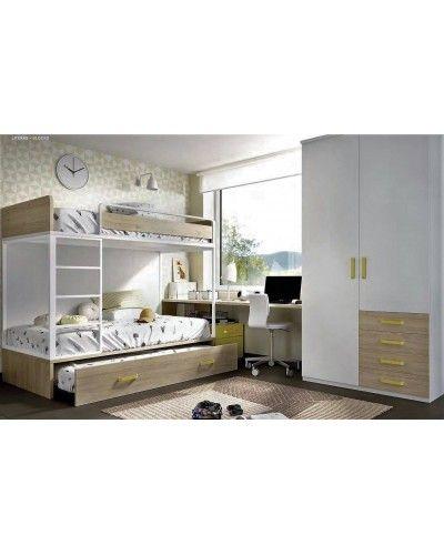 Litera dormitorio juvenil infantil moderno 363-309