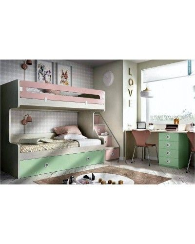 Litera dormitorio juvenil infantil moderno 363-310