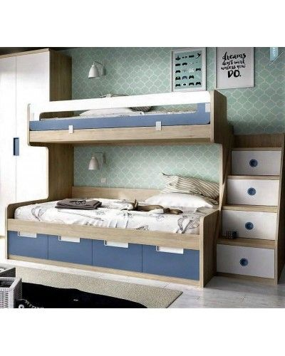Litera dormitorio juvenil infantil moderno 363-311