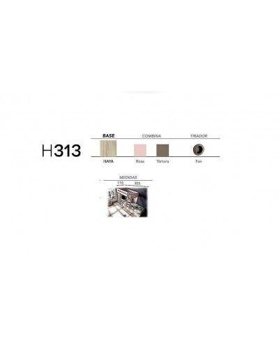 Litera dormitorio juvenil infantil moderno 363-313