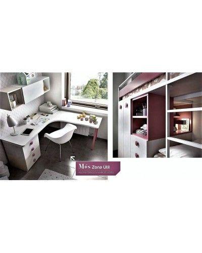 Litera dormitorio juvenil infantil moderno 363-316