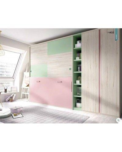 Cama abatible dormitorio juvenil infantil 363-402