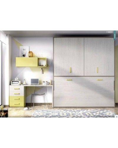 Cama abatible dormitorio juvenil infantil 363-403