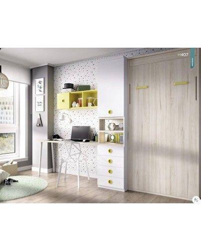 Cama abatible dormitorio juvenil infantil 363-407