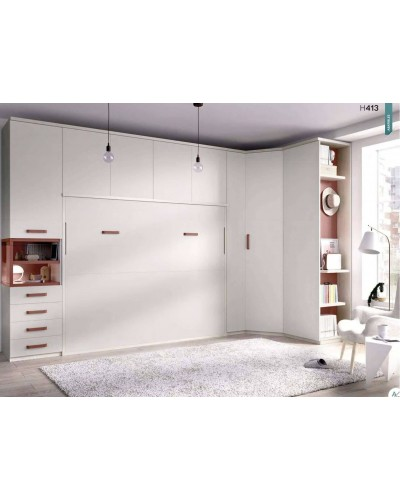 Cama abatible dormitorio juvenil infantil 363-413