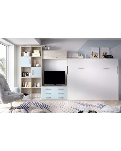 Cama abatible dormitorio juvenil infantil 363-415