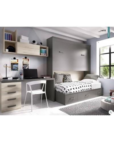 Cama abatible dormitorio juvenil infantil 363-418