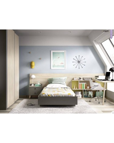 Dormitorio juvenil infantil moderno 363-601