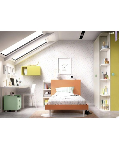 Dormitorio juvenil infantil moderno 363-602