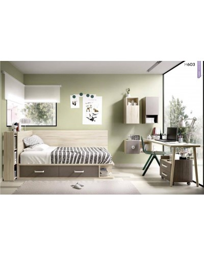 Dormitorio juvenil infantil moderno 363-603