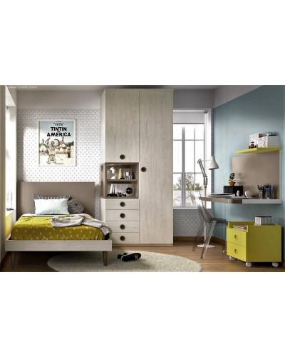 Dormitorio juvenil infantil moderno 363-604