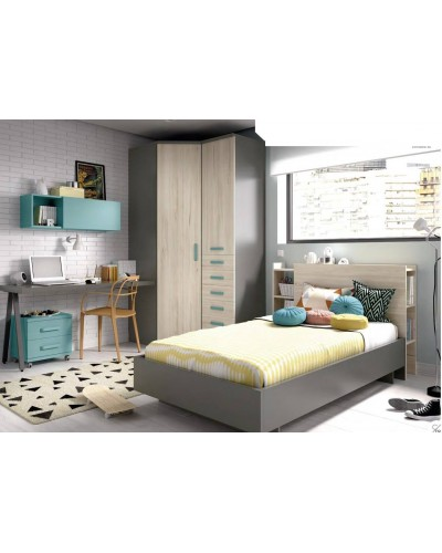 Dormitorio juvenil infantil moderno 363-605