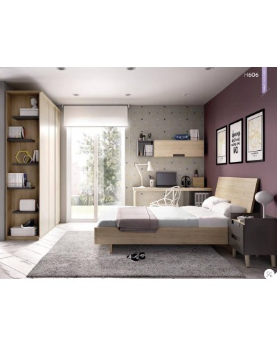 Dormitorio juvenil infantil moderno 363-606
