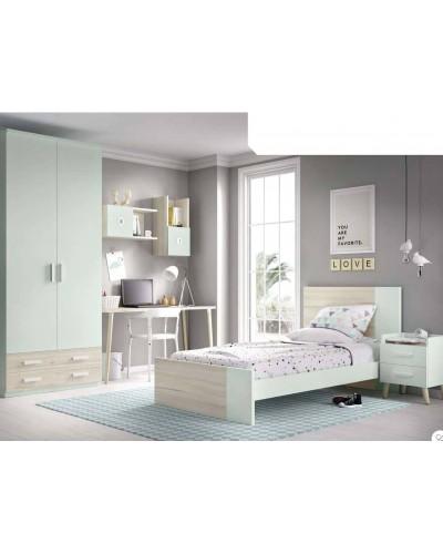Dormitorio juvenil infantil moderno 363-608