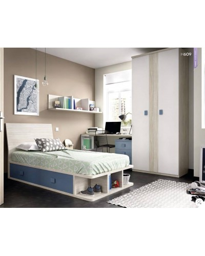 Dormitorio juvenil infantil moderno 363-609