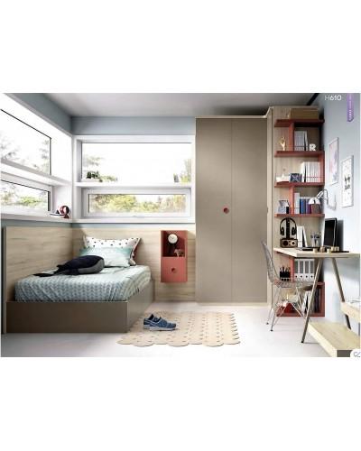 Dormitorio juvenil infantil moderno 363-610