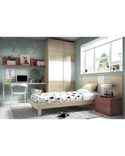 Dormitorio juvenil infantil moderno 363-612