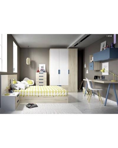 Dormitorio juvenil  infantil moderno 363-614