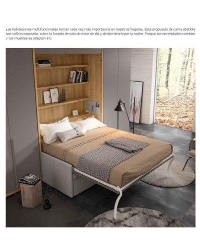Cama abatible dormitorio matrimonio moderno beladur 270-BH36