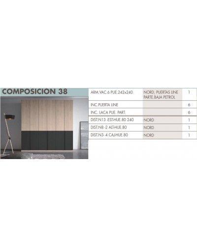 Armario puertas plegables moderno beladur 270-BH38