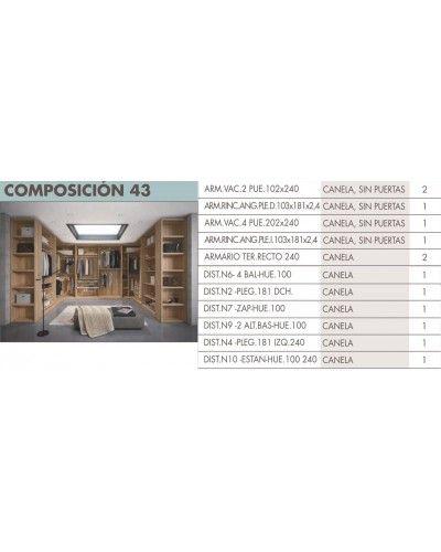 Armario vestidor moderno beladur 270-BH43