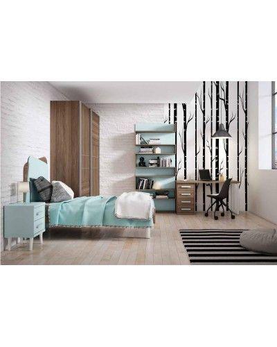Cama dormitorio juvenil infantil 224-602