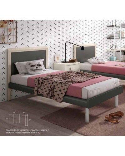 Cama dormitorio juvenil infantil 224-603