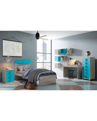 Cama dormitorio juvenil infantil 224-604