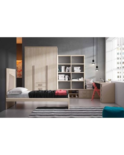 Cama dormitorio juvenil infantil 224-605