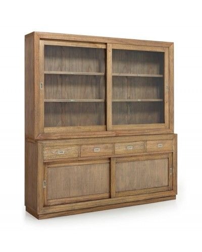 Aparador vitrina colonial madera 99-302011