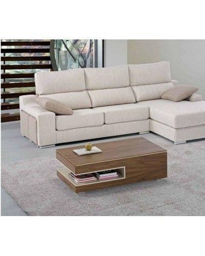 Mesa de centro moderna elevable lacado madera diseño 1010-140