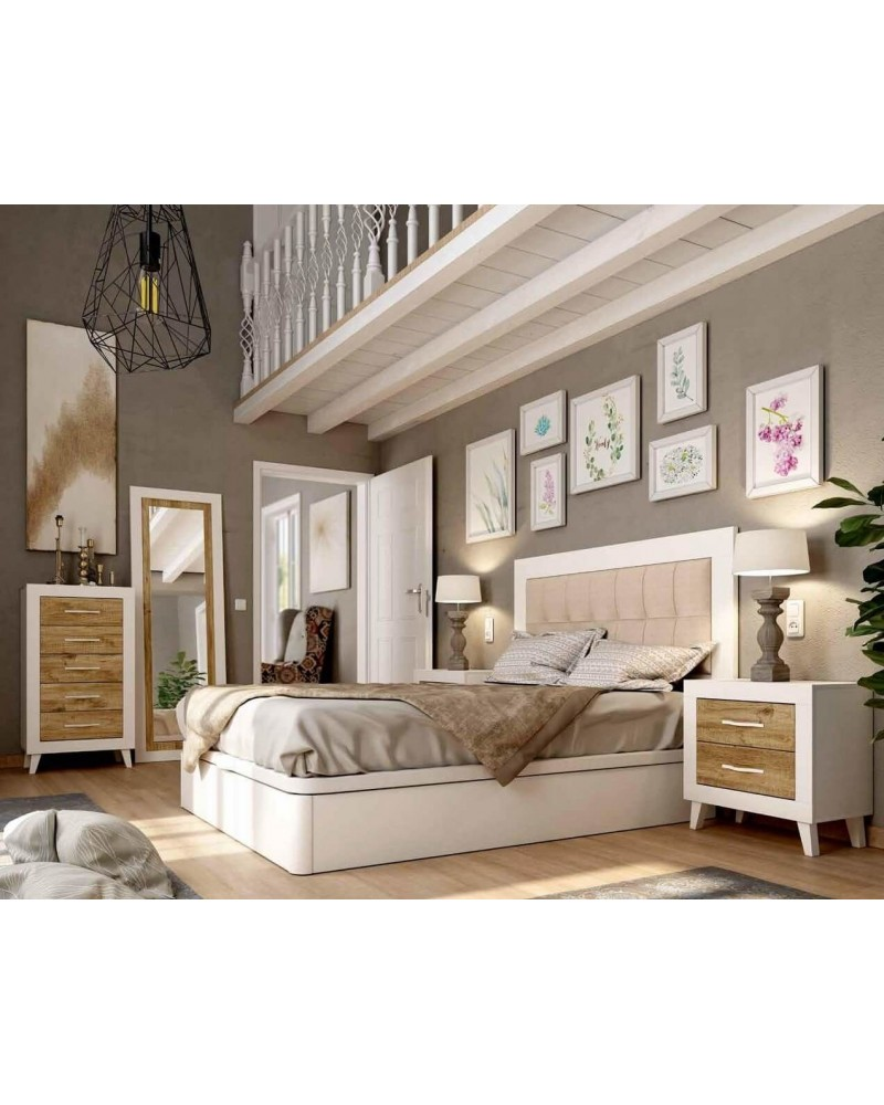 Dormitorio matrimonio vintage colonial 60-jo229
