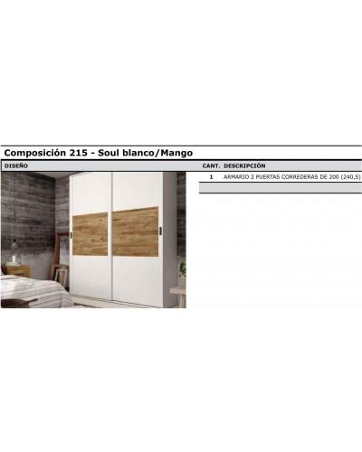 Armario puertas correderas moderno 60-jo215