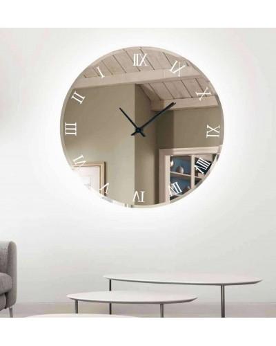 Reloj espejo pared redondo con luz led diseño 1362-03